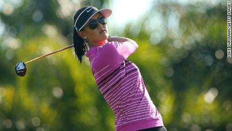 Michelle Wie plays during Els for Autism Pro-am at The PGA National Golf Club on March 10, 2014 in Palm Beach, Florida.