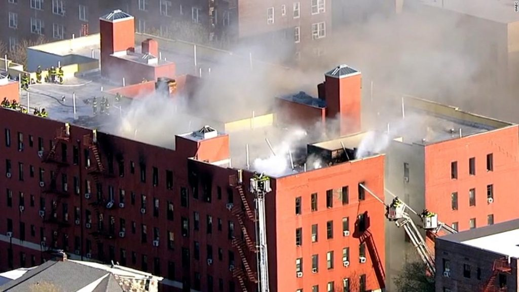 Jackson Heights fire: 21 people were injured in a fire alarm 8 in an apartment building in