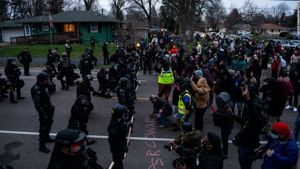 Crowds collect close to Minneapolis after the demise of a person after being shot by the officer