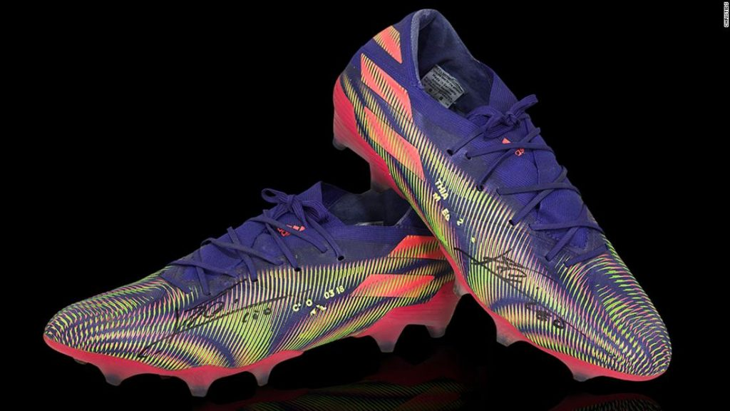 Lionel Messi: A pair of Barcelona star's soccer boots auctioned for $173,000
