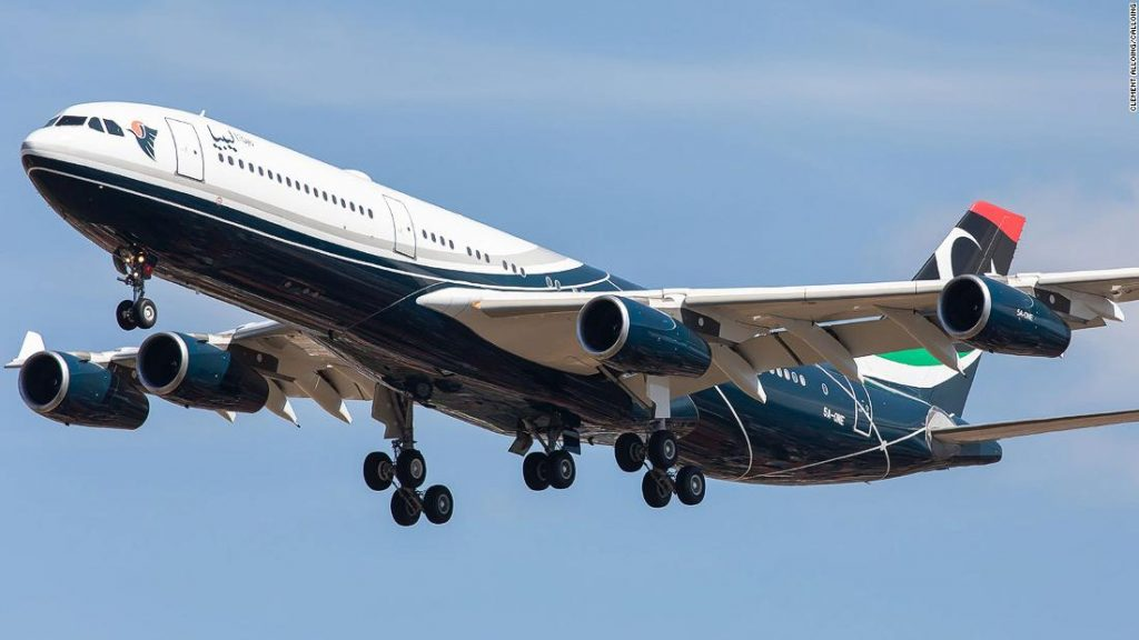 Gaddafi's private plane has returned to southern France