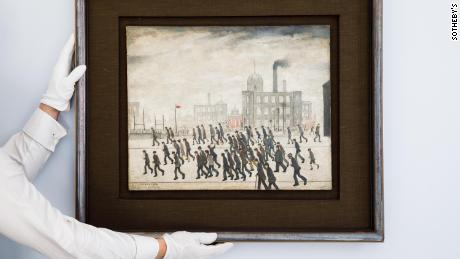 The painting is among the earliest known, if not the earliest, depiction of one of L.S. Lowry's most iconic and timeless subjects -- that of spectators thronging to a sporting occasion.