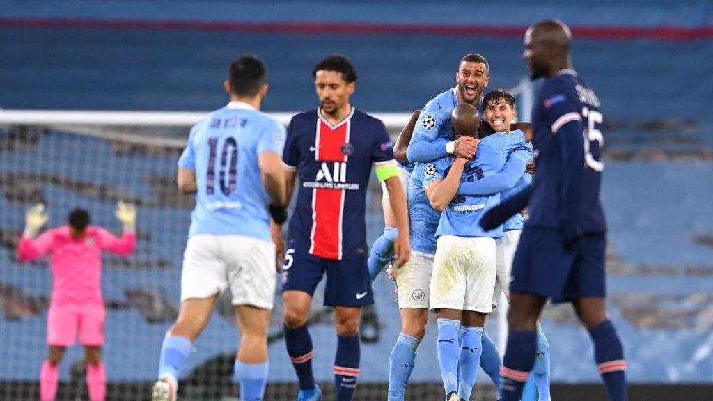 Manchester City suffocates PSG in champions league semifinal