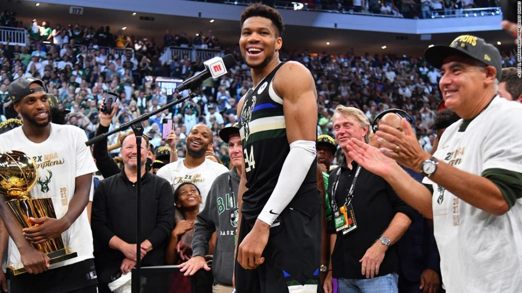 Giannis Antetokounmpo needs his NBA Finals heroics to encourage others to 'imagine of their goals'