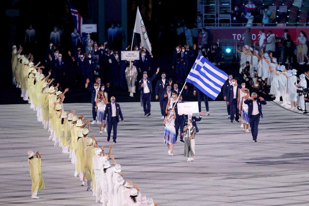 Parade of athletes takes place on the opening ceremony of Tokyo 2020