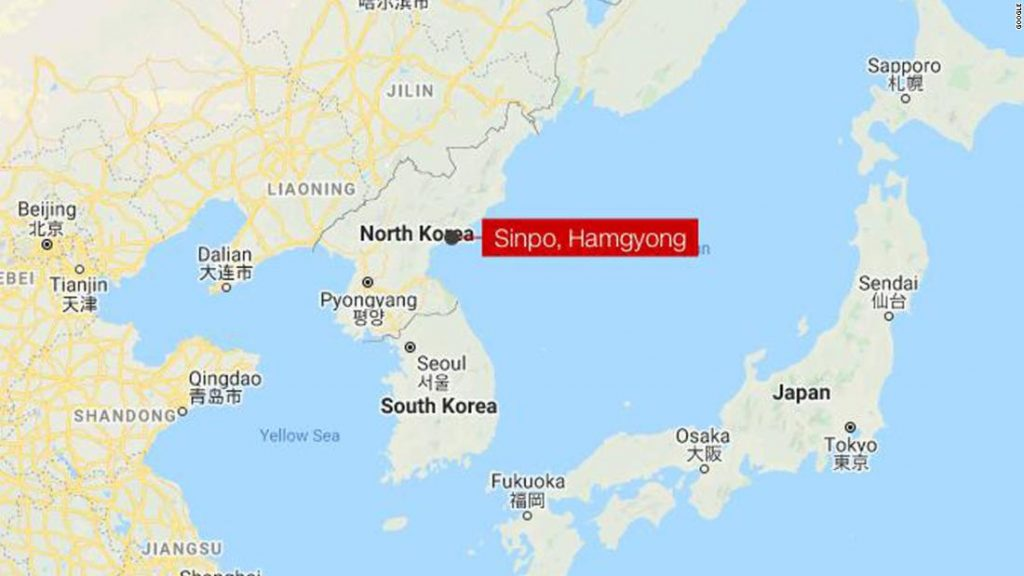 Authorities say North Korea has fired at the very least one ballistic missile from the nation's east coast